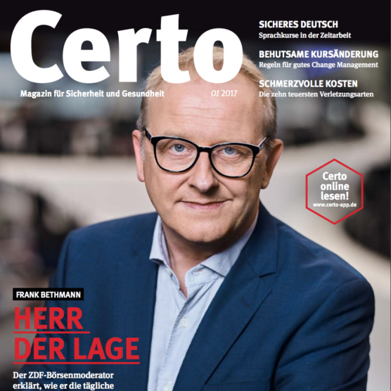 Titelstory: Certo-Magazin
